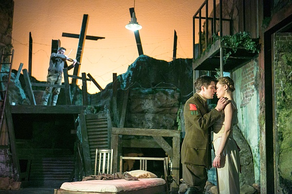 BIRDSONG - 2014 UK TOUR - George Banks as Stephen, Carolin Stoltz as Isabelle (Photo credit Jack Ladenburg)