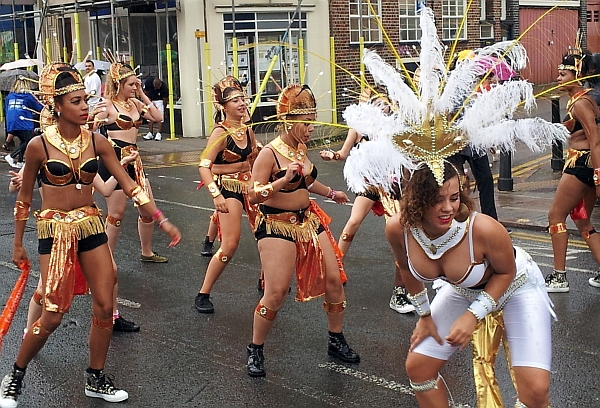 Dancers on the Caribbean Carnival parade