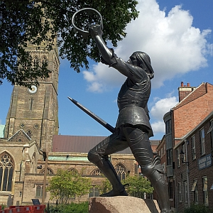 The statute of King Richard III