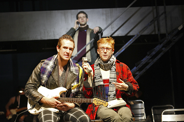 Jak Skelly as Roger and Tim Wilson as Mark with Christopher McCann in the background. Photo: Pamella Raith photography