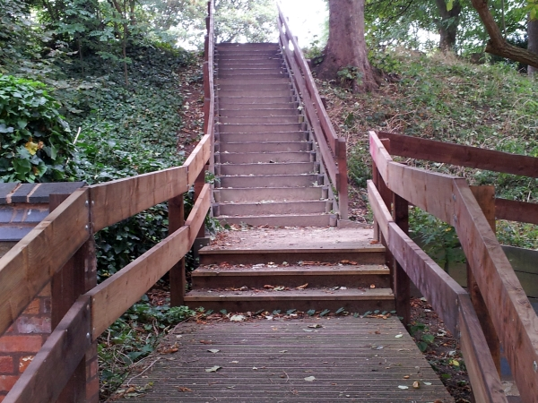 Steps leading to the top of the motte