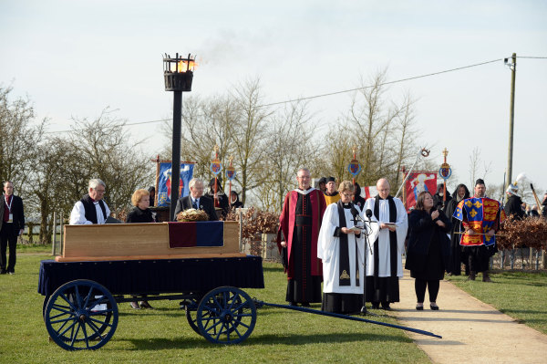 The king's coffin at Bosworth field Photo Diocese of Leicester
