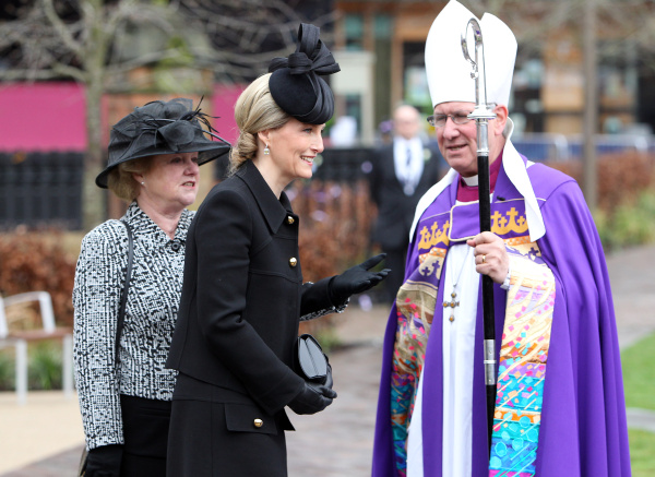 The Countess of Wessex with the Bishop of Leicester Photo Diocese of Leicester