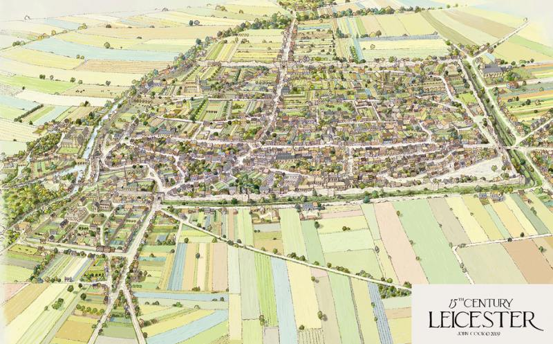 Depiction of Leicester in the 15th century