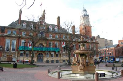 The town hall square