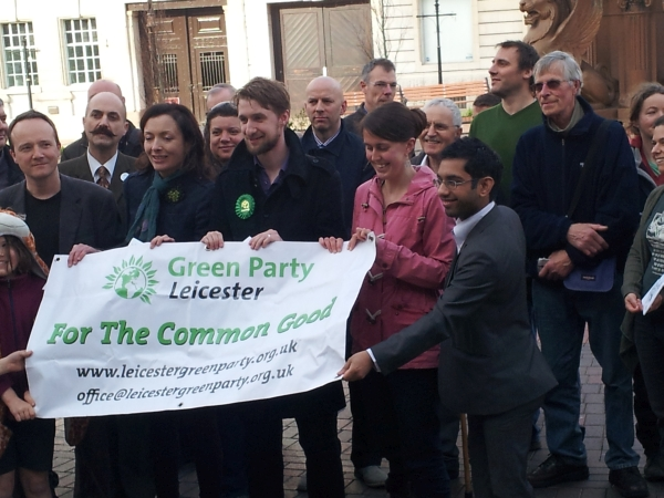 Leicester's Green Party at their manifesto launch
