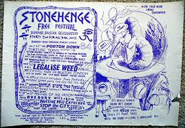 Poster for the Stonehenge Free Festival