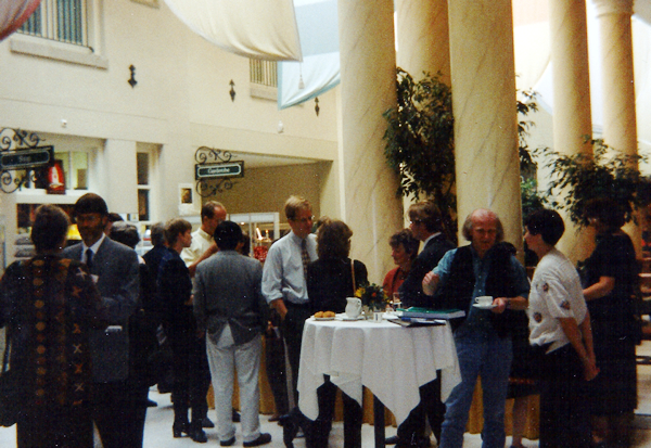 Delegates at the conference reception in 1997