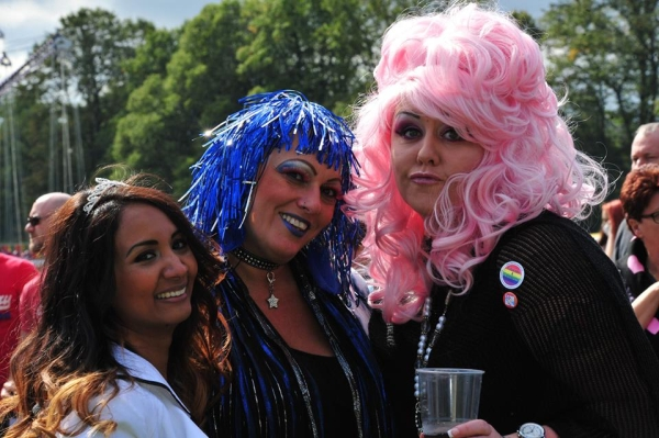 Festival goers at Pride 2015. Photo: Trevor Sewell.