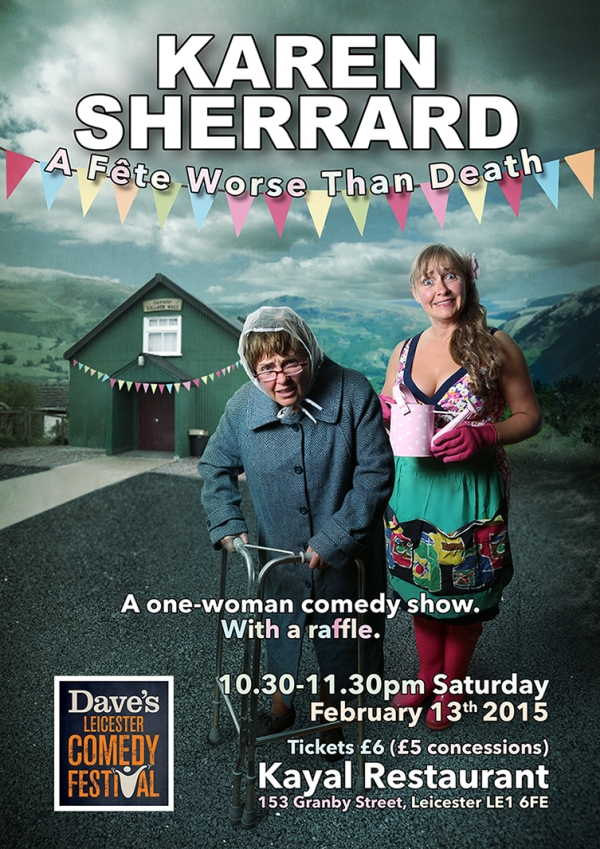Karen Sherrard is appearing in A Fete worse than death on 13th February