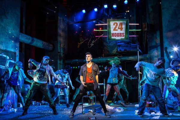 Green Day's American Idiot runs at Curve from 19th March. Picture from 2015 London production. Photo: Darren Bell.
