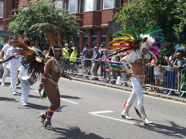 Dancers in the carnival procession, 2016
